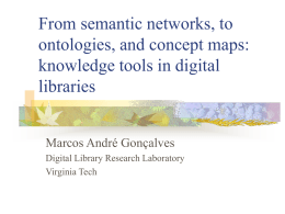 From semantic networks, to ontologies, and concept …