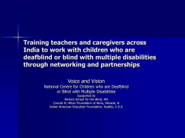 Training teachers and caregivers across India to work with
