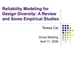 Reliability Modeling for Design Diversity: A Review and