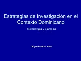 FORMULACION DE PROYECTOS DE INVESTIGACION