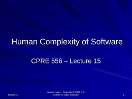 Human Complexity of Software