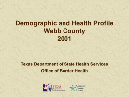 2001_Webb_County_Profile - Texas Department of State