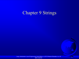 Chapter 9: Objects and Classes