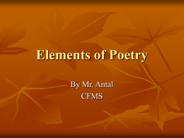 Elements of Poetry - Copley