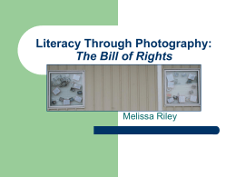 Literacy Through Photography: The Bill of Rights