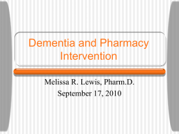 Dementia and Pharmacy Intervention