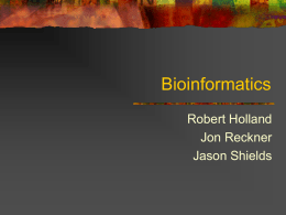 bioinformatics - Health and Science Pipeline Initiative