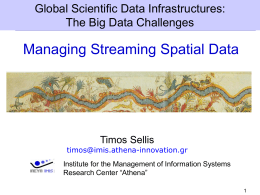 Introduction to Management of Spatial Streams