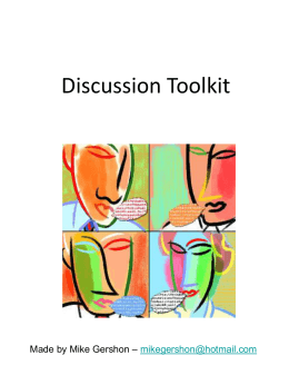 Discussion and Debate Toolkit