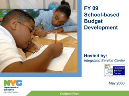 Webcast Slides: FY09_SBBD_052808