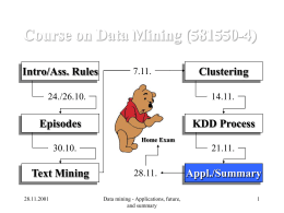 Classification, clustering, similarity
