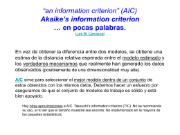 "an information criterion"" (AIC) Akaike's information"