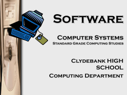 Software Computer Systems Standard Grade Computing …
