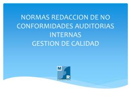 NORMAS REDACCION DE NO CONFORMIDADES …