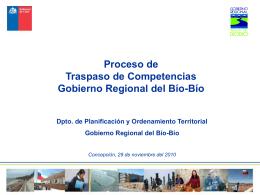 TRASPASO DE COMPETENCIAS DE PLANIFICACION