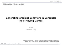 Generating ambient Behaviors in Computer Role …