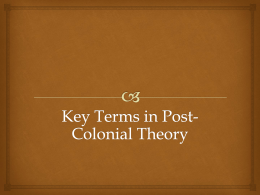 Key Terms in Post