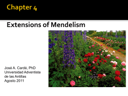 Chapter 4 Extensions of Mendelism