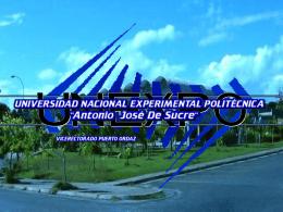SERVICIO COMUNITARIO UNEXPO – PUERTO ORDAZ 2012-I