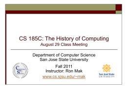 CS 153: Concepts of Compiler Design