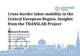 Cross-border labour migration in the European Union and