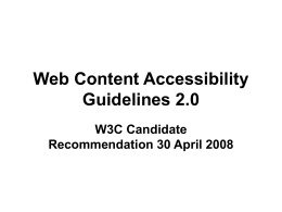 Web Content Accessibility Guidelines 2.0