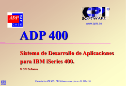 ADP 400 - CPI Software