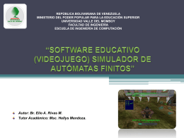 Software Educativo (Videojuego), Simulador de …