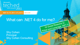 DEV208: What can .NET 4 do for me?