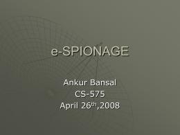 e-SPIONAGE