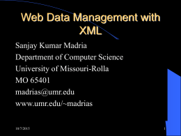 Web Data Management with XML