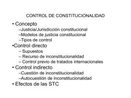 CONTROL DE CONSTITUCIONALIDAD
