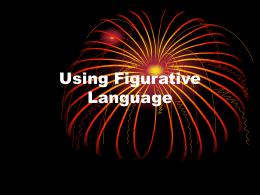 Using Figurative Language - Murrieta Valley Unified …