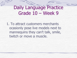 Daily Language Practice Grade 10 – Week 9