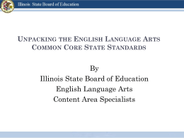 Unpacking the English Language Arts Common Core