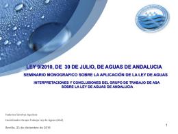 LA LEY 9/2010, DE AGUAS DE ANDALUCIA YEL CANON DE …