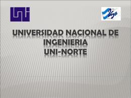 UNIVERSIDAD NACIONAL DE INGENIERIA UNI