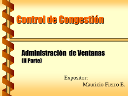 Capitulo 10 - Congestion Control