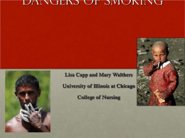 Smoking Risks and Cessation