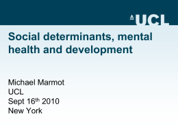 Why Mental Health has to be Integrated into the MDGs