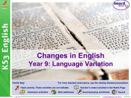 Changes In English