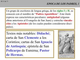 EPOCA DE LOS PADRES, 1
