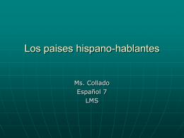 Los paises hispano