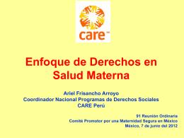 EBD Y SALUD MATERNA MEXICO 2012
