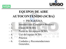 EQUIPOS DE AIRE AUTOCONTENIDO (SCBA)