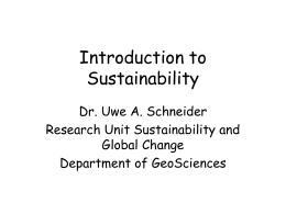 Environmental and Resource Economics, lecture 1