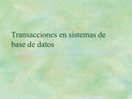 Transacciones en sistemas de base de datos