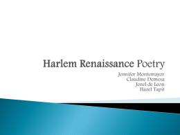 Harlem Renaissance - MHS AP Literature 2013