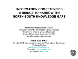 INFORMATION COMPETENCIES: A BRIDGE TO NARROW …