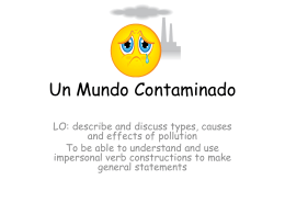 Un Mundo Contaminado - Languages Resources
